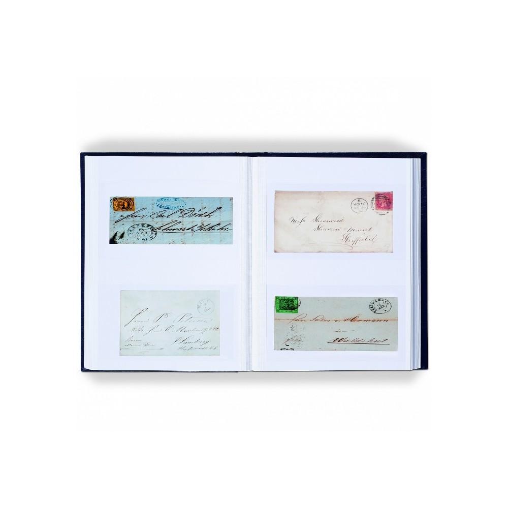 Leuchtturm insteekalbums voor ansichtkaarten/ brieven (zwart karton)