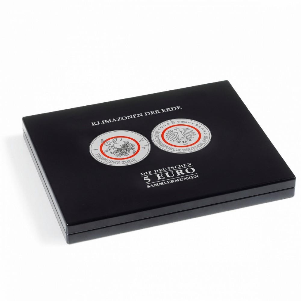 """Muntencassette voor 25x 5-euromunt """"Klimaat zones van de Aarde"""""""
