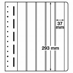 LB bladen 5 vaks (LB 5VERT.) 37X293mm 10 bladen