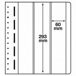 LB bladen 3 vaks (LB 3VERT.) 60X293mm 10 bladen