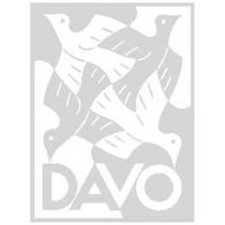 Davo Postzegelmapjes, 1 vaks met wit tussenblad (per 10 )