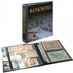 Lindner bankbiljettenalbum met cassette en 20 dubbelzijdige folievellen