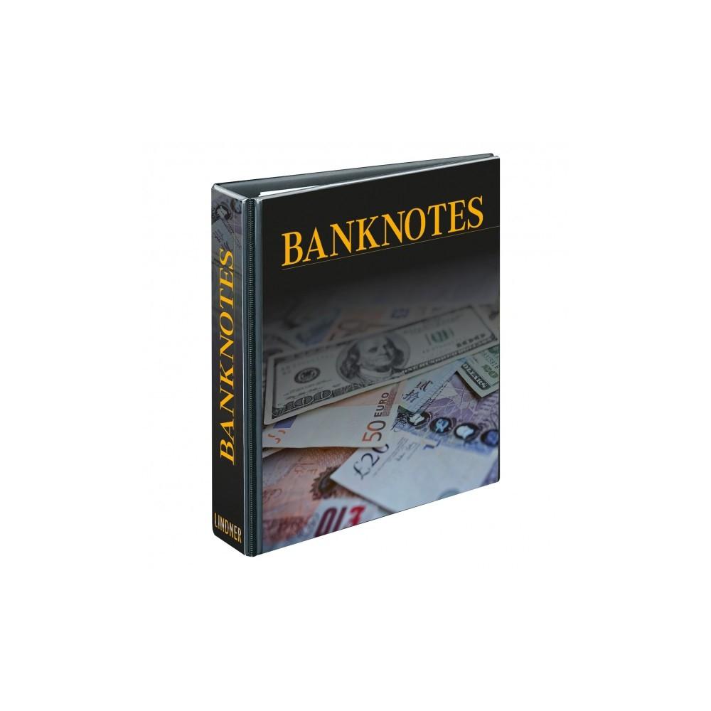 Lindner bankbiljettenalbum met 20 dubbelzijdige folievellen