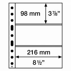 Leuchtturm aanvullingsbladen voor bankbiljetten (SH312-3C) 50 stuks. Niet leverbaar. Leverbaar vanaf 13-08-2021