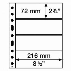 Leuchtturm aanvullingsbladen voor bankbiljetten (SH312-4C) 50 stuks