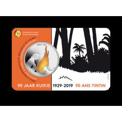 5 euromunt België 2019 '90 jaar Kuifje' in KLEUR BU in coincard. Max 1 per klant!