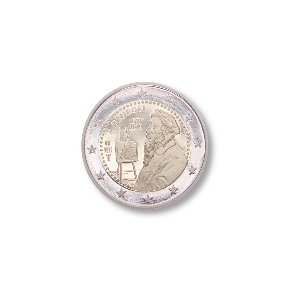 België 2 euro 2019 'Pieter Bruegel' coincard Engels/Nederlandse tekst
