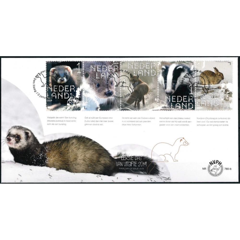 2019 Nederland 2 FDC's | Beleef de natuur, zoogdieren