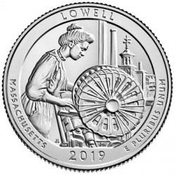 USA Quarter 2019 Massachusetts 'Lowell Park'
