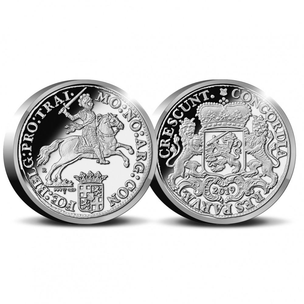 """Officiële herslag: Dukaton """"Zilveren Rijder"""" 1 Ounce - Royal Delft editie. Leverbaar vanaf April!"""