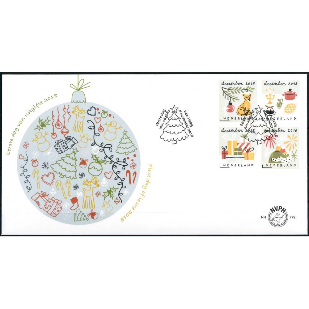 2018 Nederland 2 FDC's | Decemberzegels