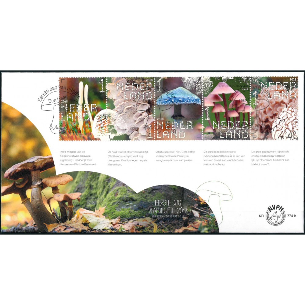 2018 Nederland 2 FDC's | Beleef de natuur paddenstoelen