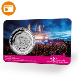 Nederland penning in coincard 2019 'Pinkpop'