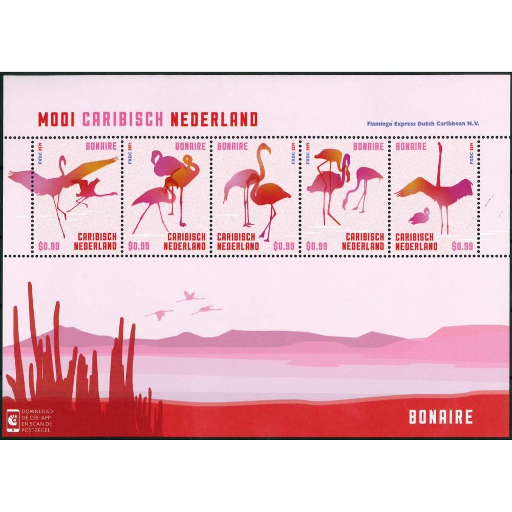 2014 Mooi Caribisch Nederland Vel | Vogels Bonaire