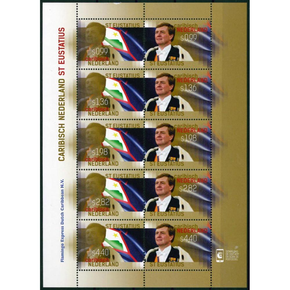 2015 Caribisch Nederland Vel   Koningspostzegels St. Eustatius