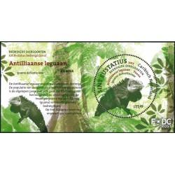 2017 Caribisch Nederland blok | St. Eustatius bedreigde diersoorten, Leguaan