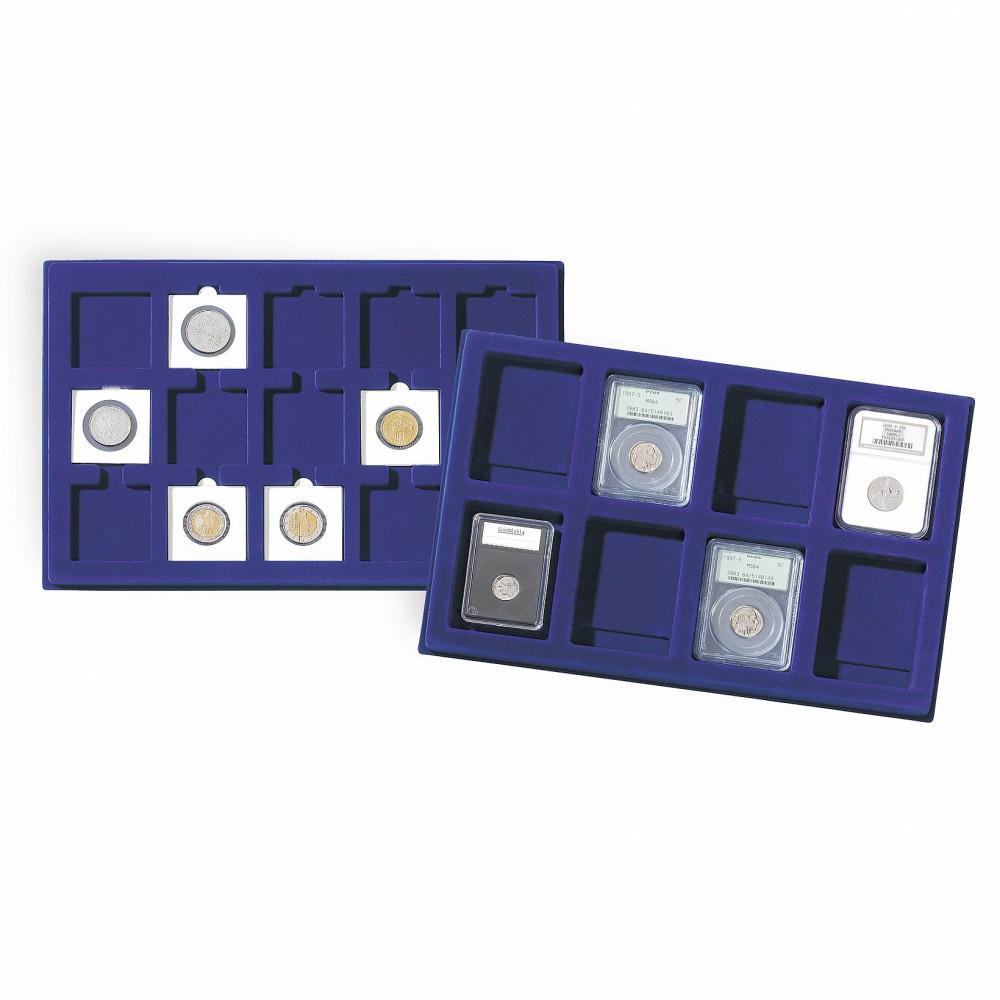 Leuchtturm L tableaus voor 35 munten tot 38 mm Ø,  (Quadrum Mini)   per 2 stuks - Leverbaar in Juni