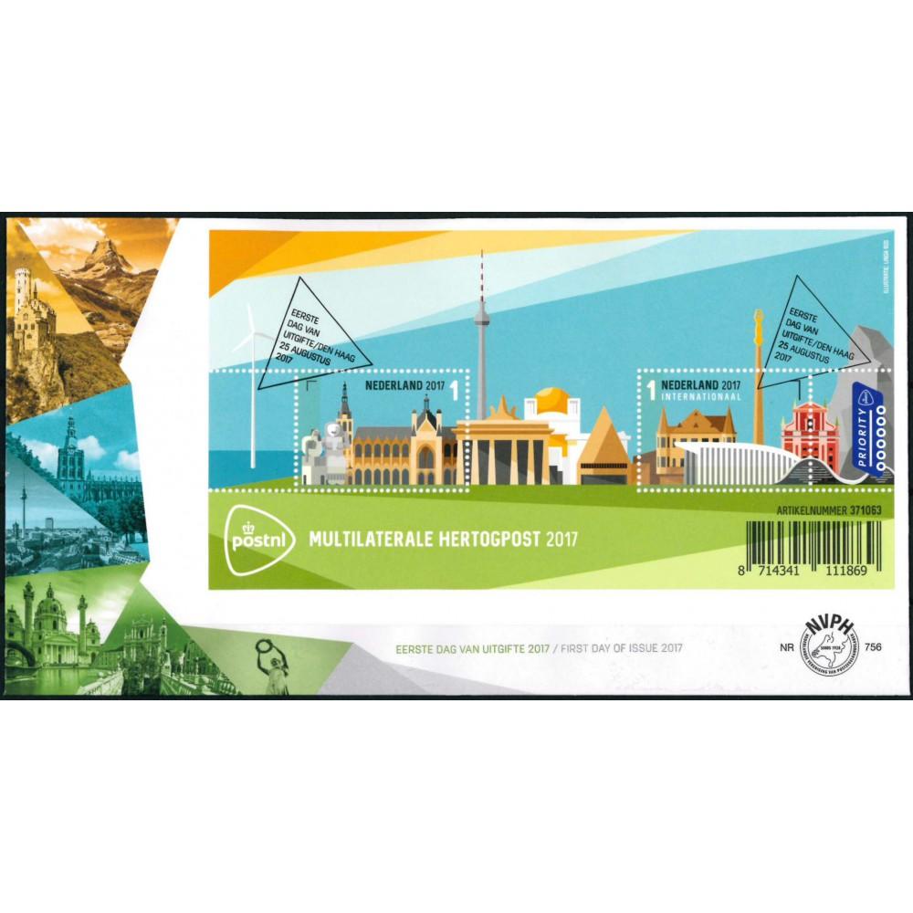 2017 Nederland FDC | Multilaterale hertogpost