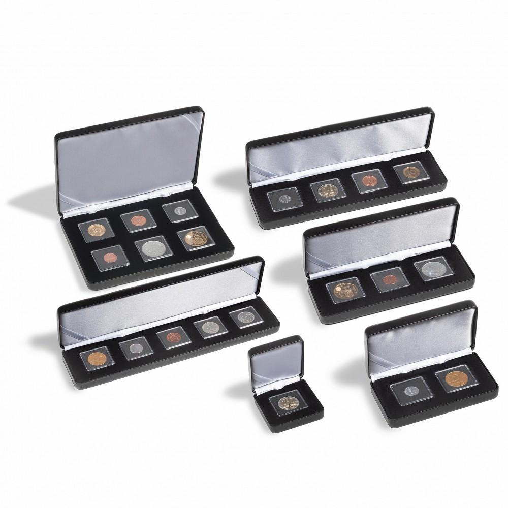 Leuchtturm Muntenetui Nobile voor 4x quadrum mini capsules, zwart