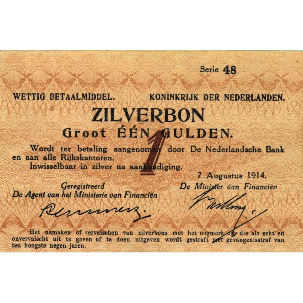 Nederland 1 Gulden 1914