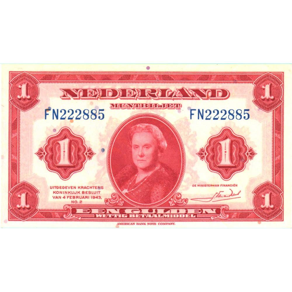 Nederland 1 Gulden 1943 'Wilhelmina'