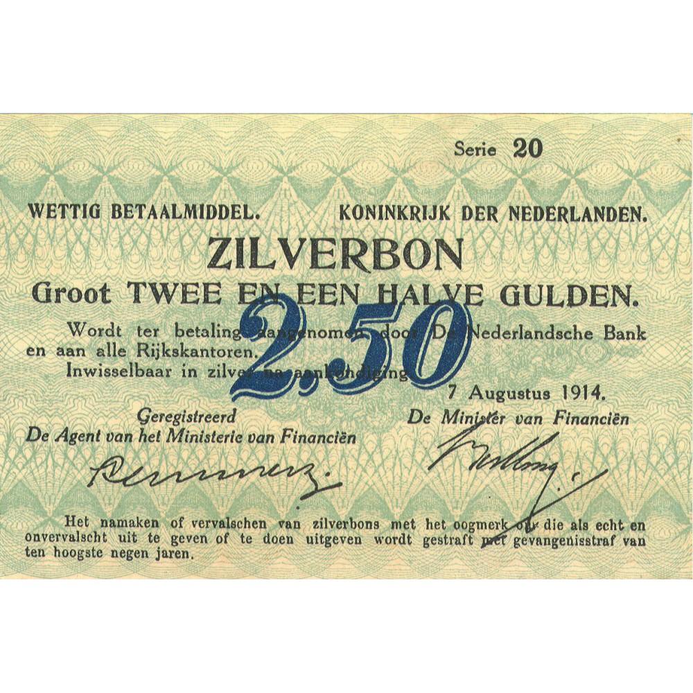 Nederland 2½ Gulden 1914