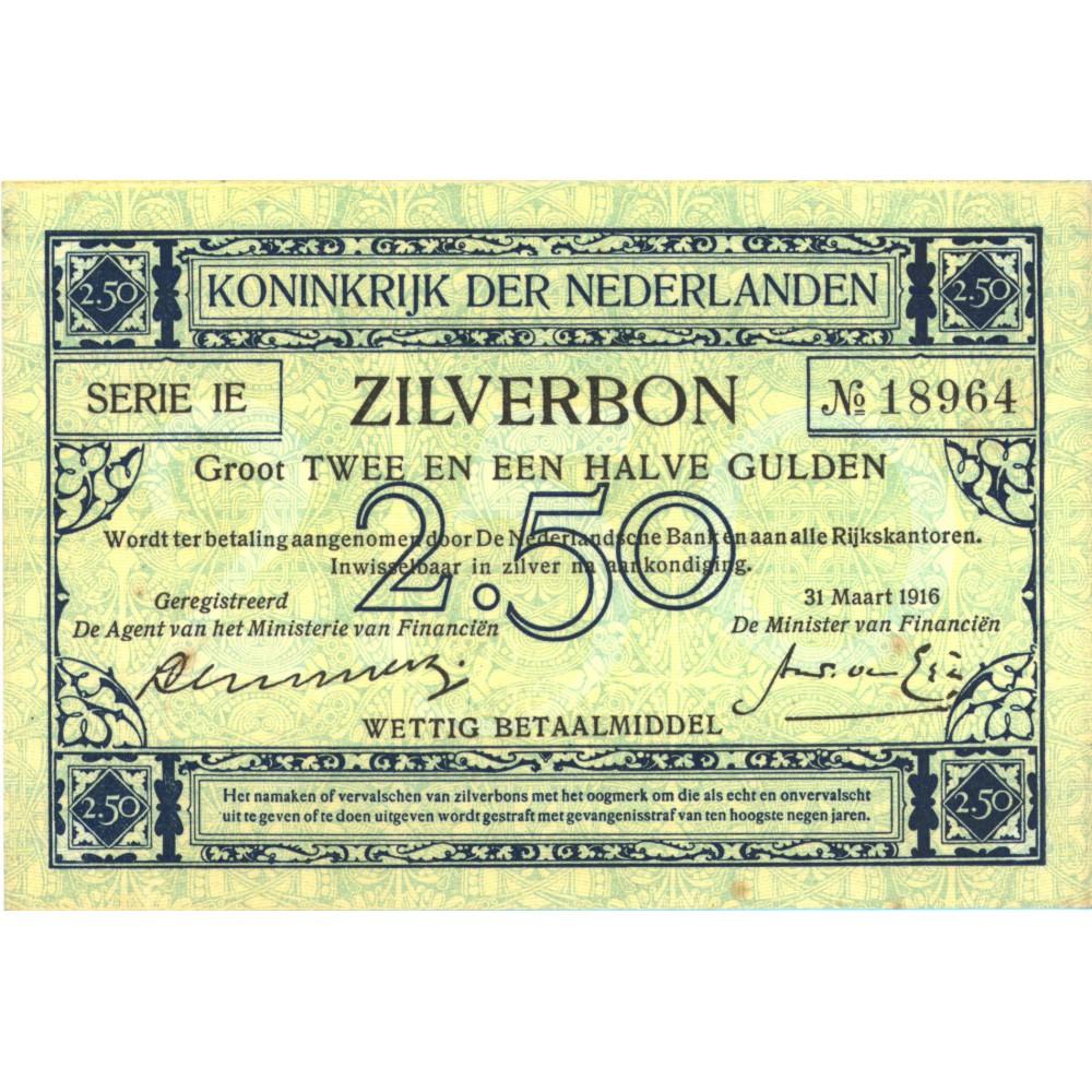 Nederland 2½ Gulden 1915