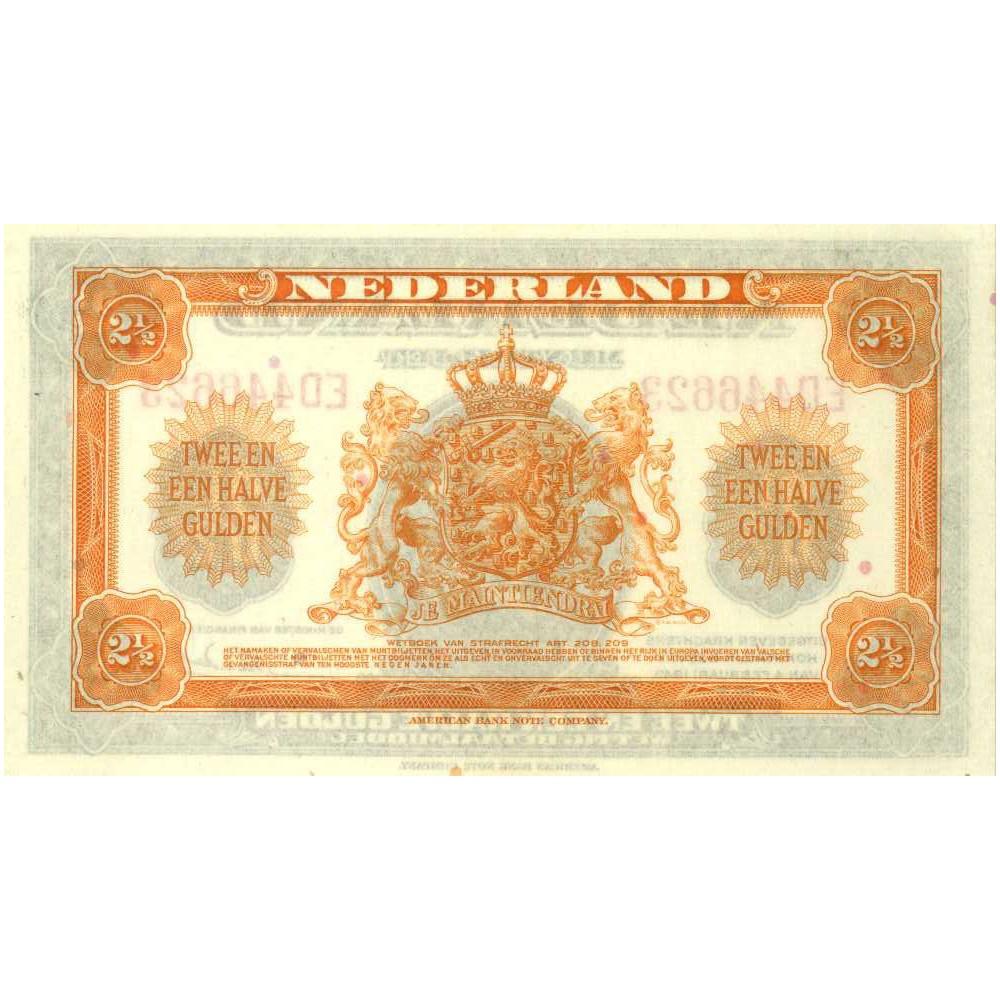 Nederland 2½ Gulden 1943 'Wilhelmina'