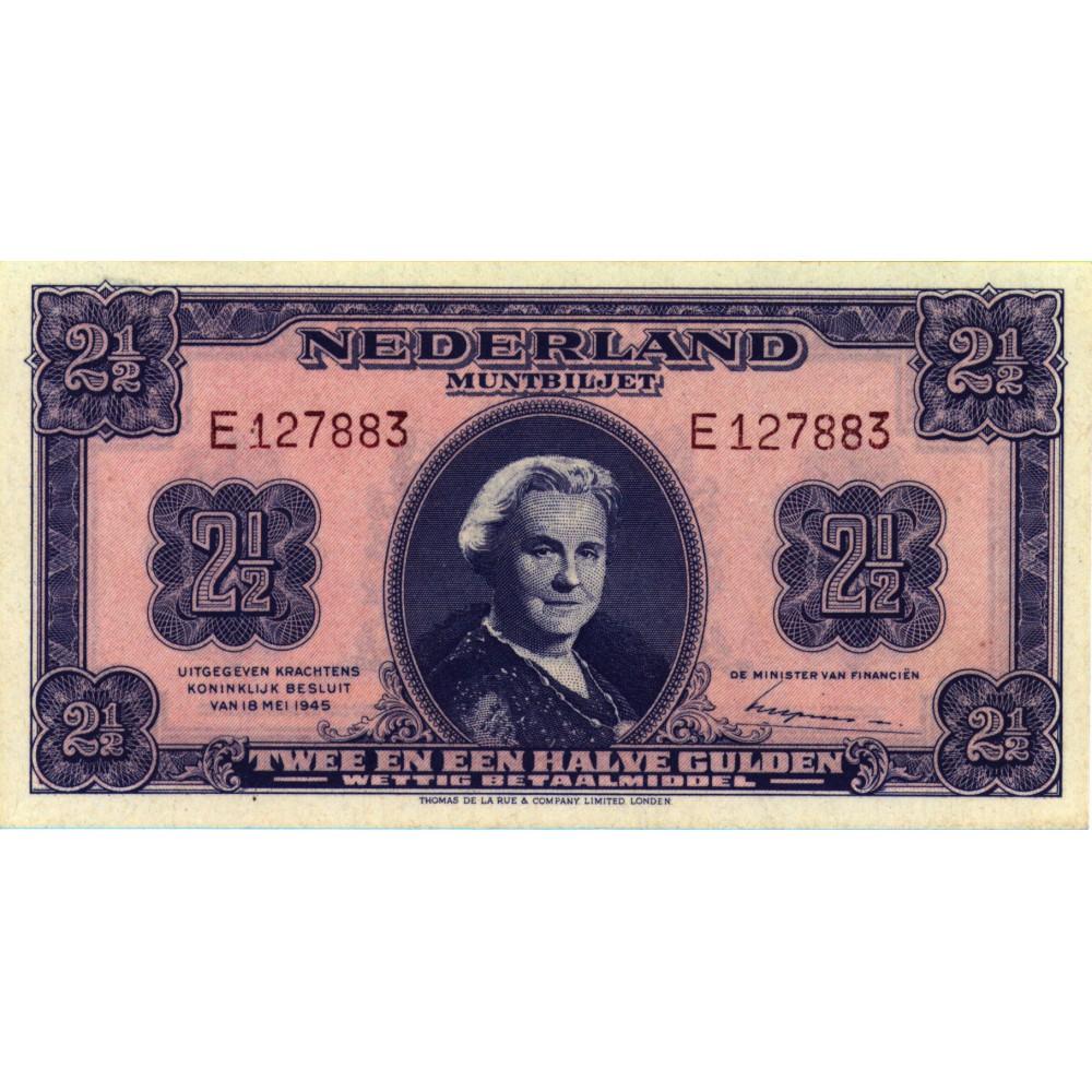 Nederland 2½ Gulden 1945 I 'Wilhelmina'