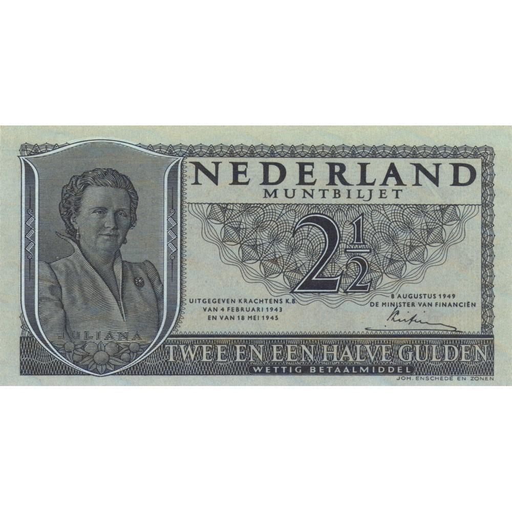Nederland 2½ Gulden 1949 II 'Juliana'