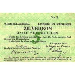 Nederland 5 Gulden 1914