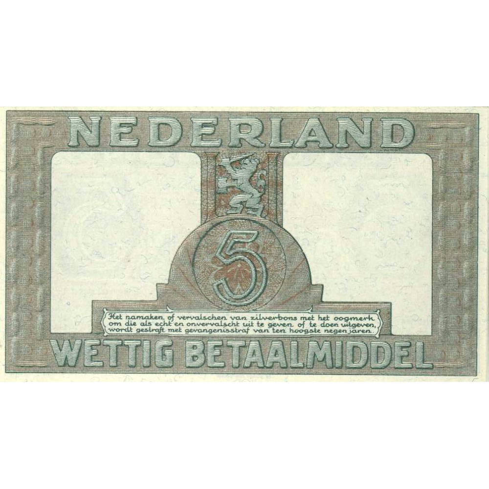 Nederland 5 Gulden 1944 II