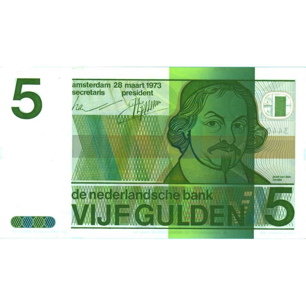 Nederland 5 Gulden 1973 'Joost van den Vondel'