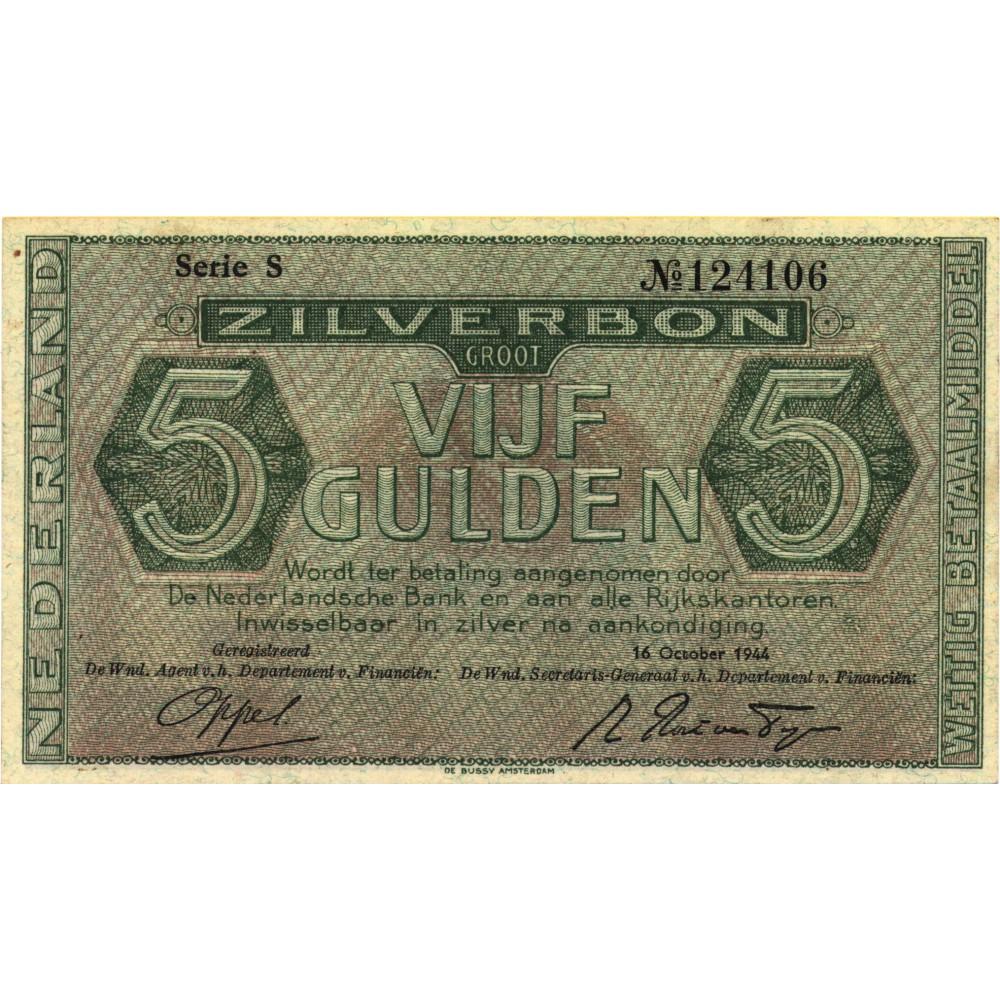 Nederland 5 Gulden 1944 I