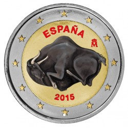 Spanje 2 Euro 2015 'Cave of Altamira' in kleur