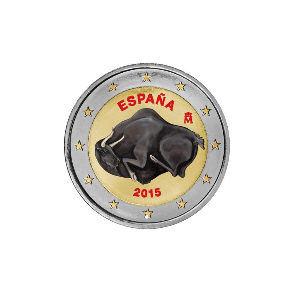 Spanje 2 Euro 2015 'Cave of Altamira' in kleur