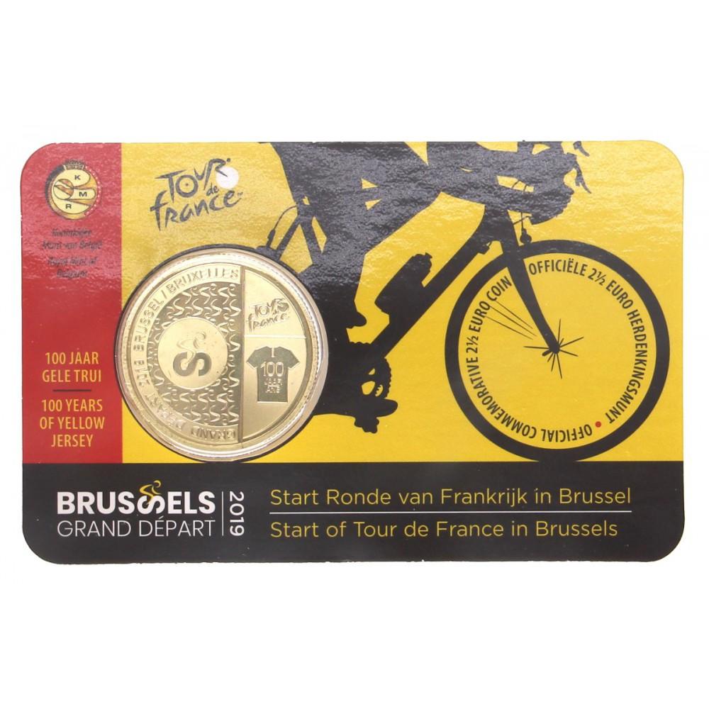 België 25 Euro 2019 Tour De France Nedeng Tekst