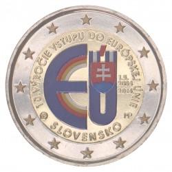 Slowakije 2 Euro 2014 '10 jaar toetreding EU' in kleur