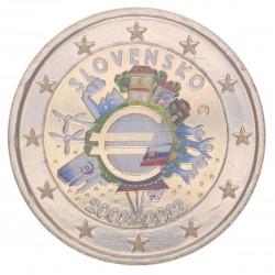 Slowakije 2 Euro 2012 '10 jaar Euro' in kleur