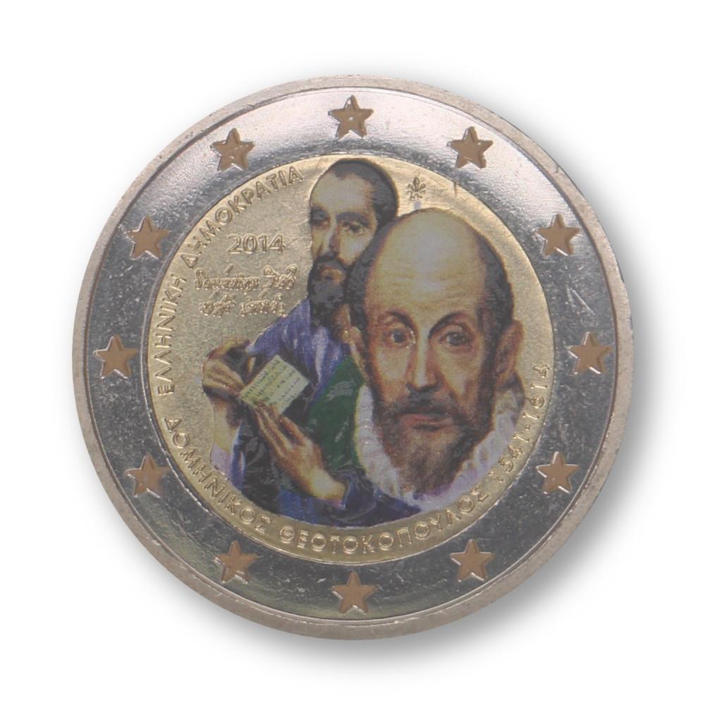 Griekenland 2 Euro 2014 'El Greco' in kleur