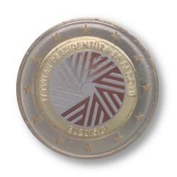 Letland 2 Euro 2015 'Voorzitterschap Europese Unie' in kleur