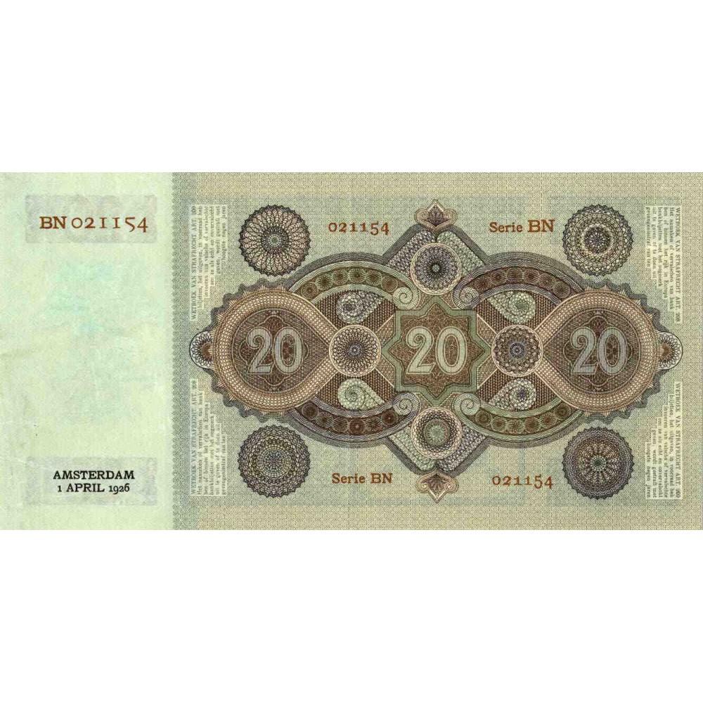Nederland 20 Gulden 1926 'Stuurman'