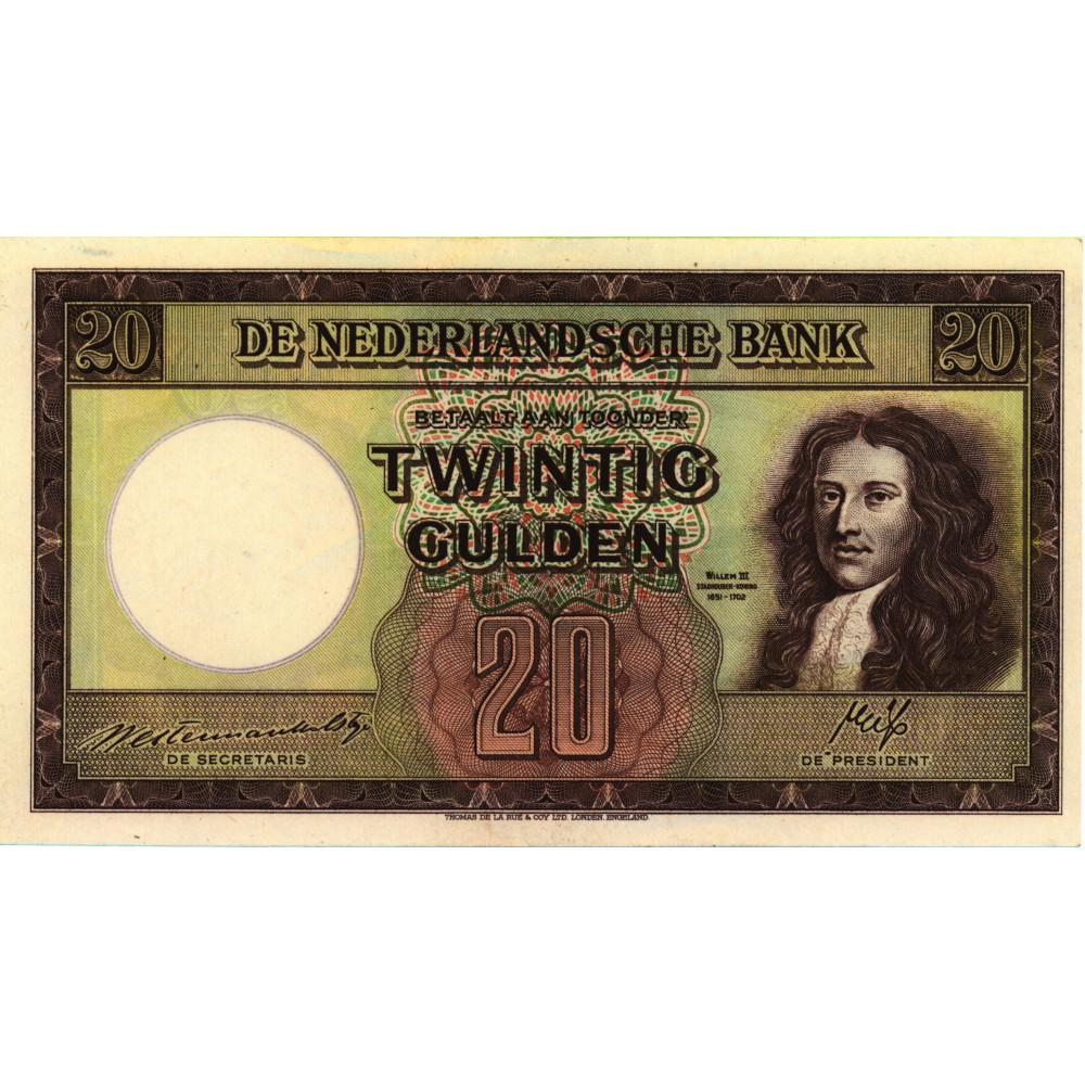 Nederland 20 gulden 1945 'Stadhouder Willem III'