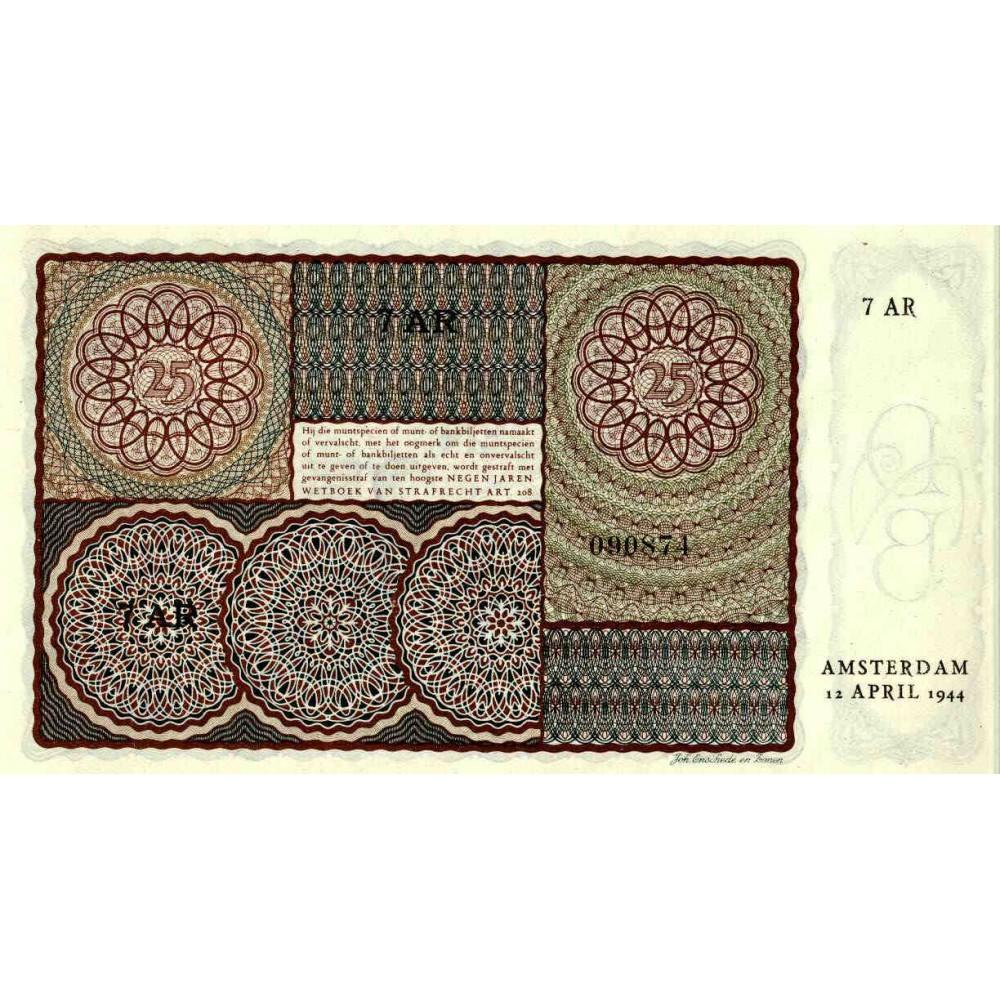 Nederland 25 Gulden 1943 I 'Prinsesje'