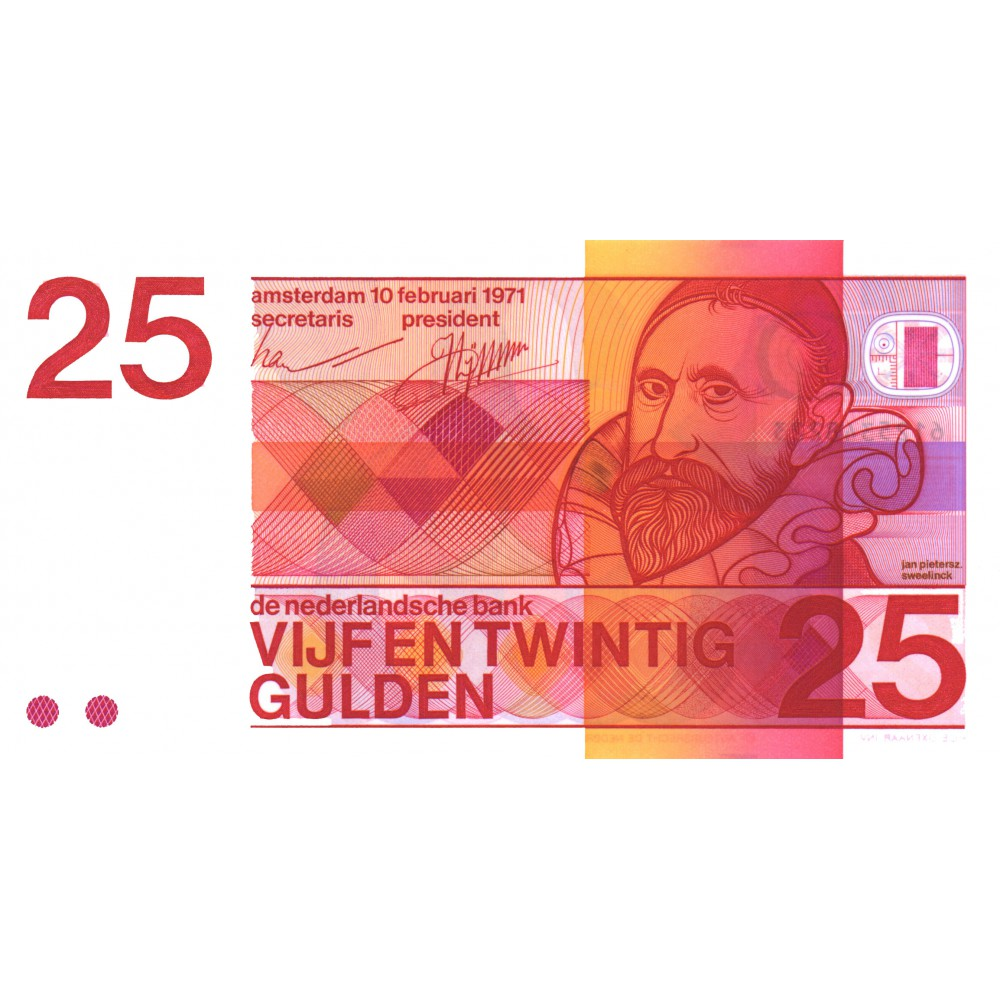 Nederland 25 Gulden 1971 'Sweelinck'