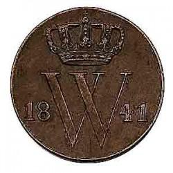Koninkrijksmunten Nederland ½ cent 1841