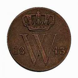 Koninkrijksmunten Nederland ½ cent 1843