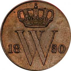 Koninkrijksmunten Nederland ½ cent 1850