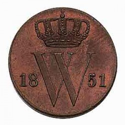 Koninkrijksmunten Nederland ½ cent 1851