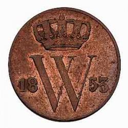 Koninkrijksmunten Nederland ½ cent 1853